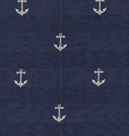 Four Seasons Toss Pillow - Anchor's Naval Blue 21""