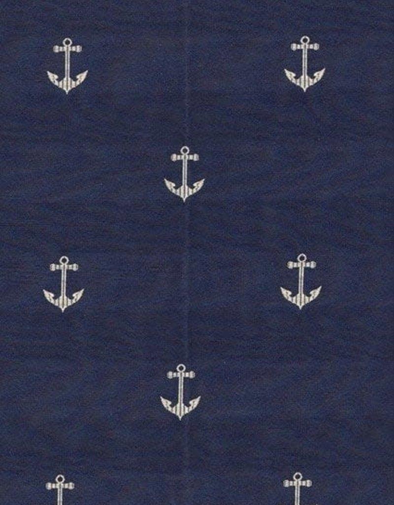 """Four Seasons Toss Pillow - Anchor's Naval Blue 21"""""""
