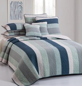New New Horizons Breezy Stripe Quilt Set