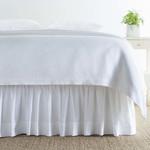 Classic Hemstitch White Bed Skirt