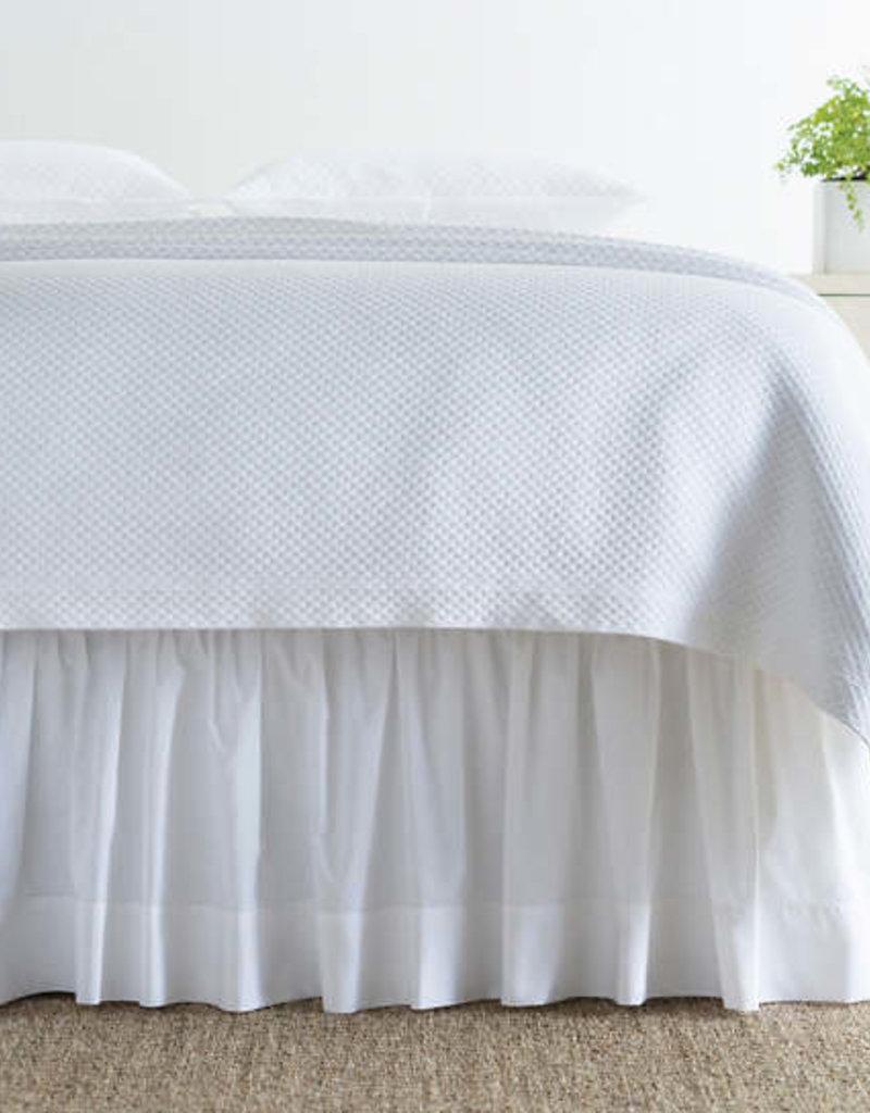 Pine Cone Hill Classic Hemstitch White Bed Skirt