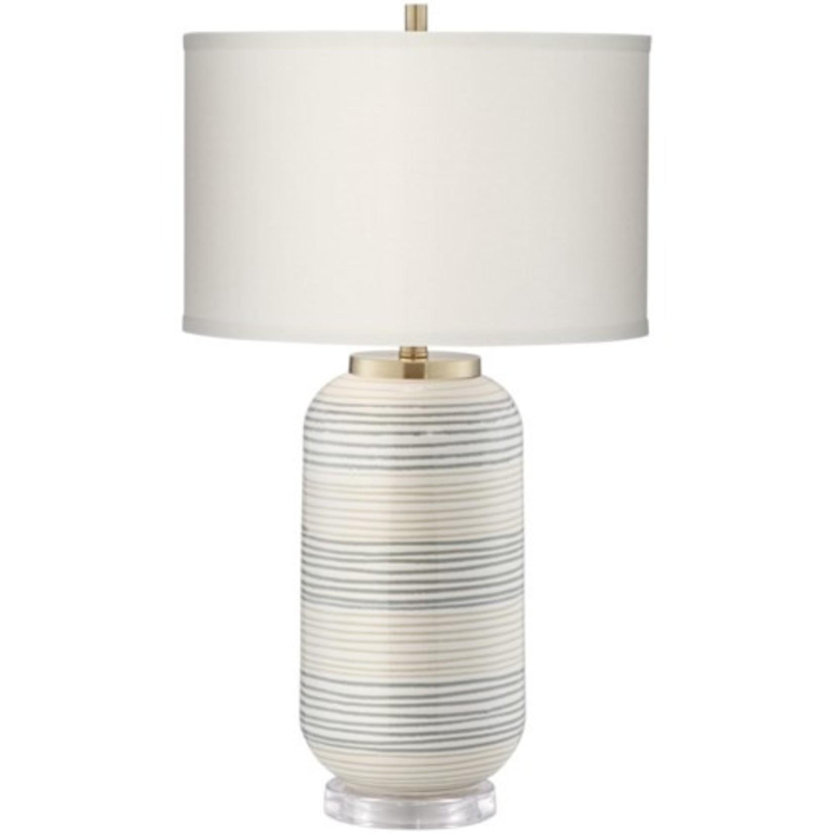 Pacific Coast Lighting Striped Adler Table Lamp