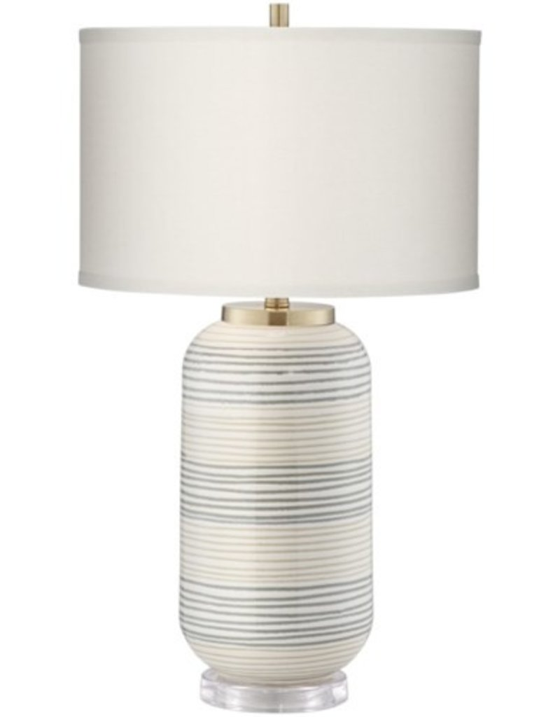Pacific Coast Lighting Striped Adler Table Lamp