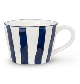 Abbott Navy/White Stripe Mug