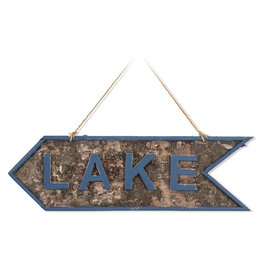 Abbott Lake Sign in Bark