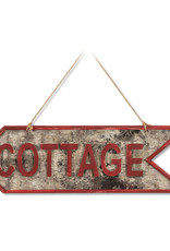 Abbott Cottage Sign in Bark