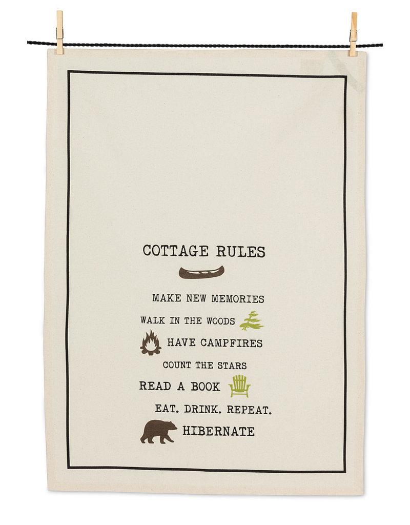 Abbott Cottage Rules Tea Towel