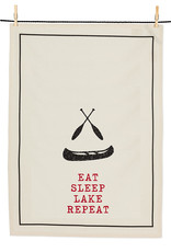 Abbott Eat, Sleep, Canoe Tea Towel