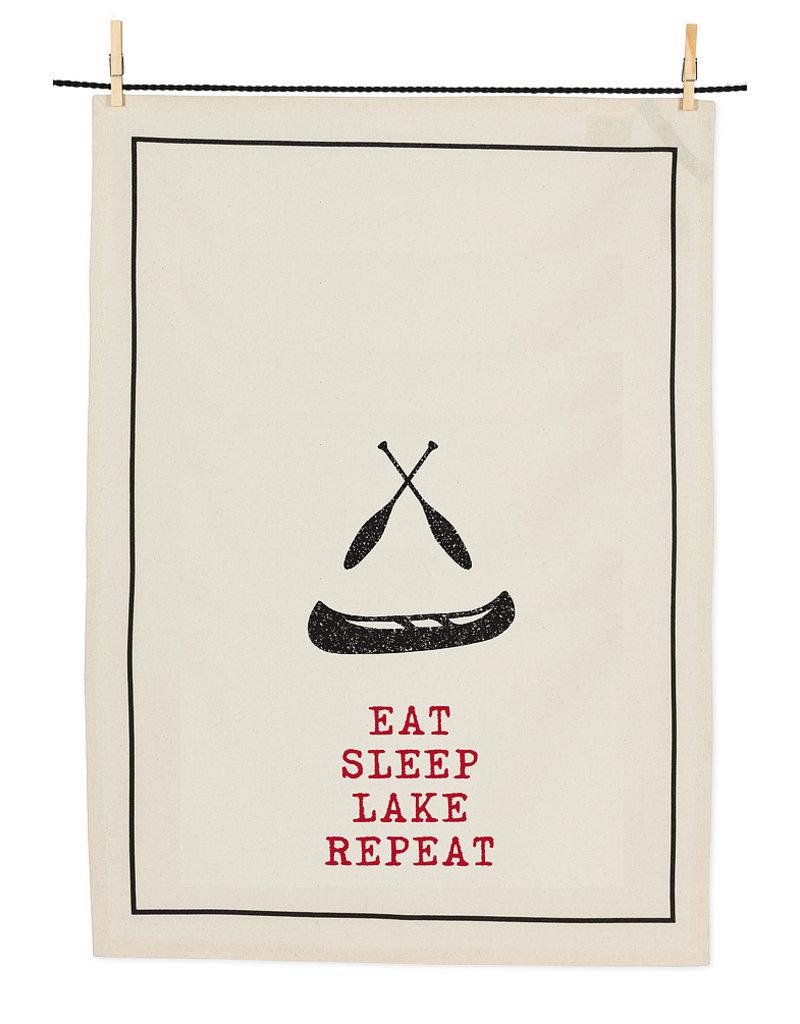 Abbott Eat, Sleep, Canoe Tea Towel