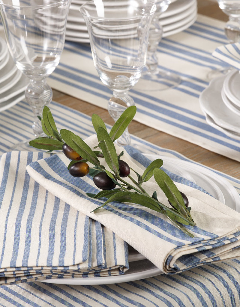 Saro Trading Company French Blue Napkin - Thin Stripe