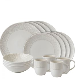 Royal Doulton Taupe Stripe Dish Set