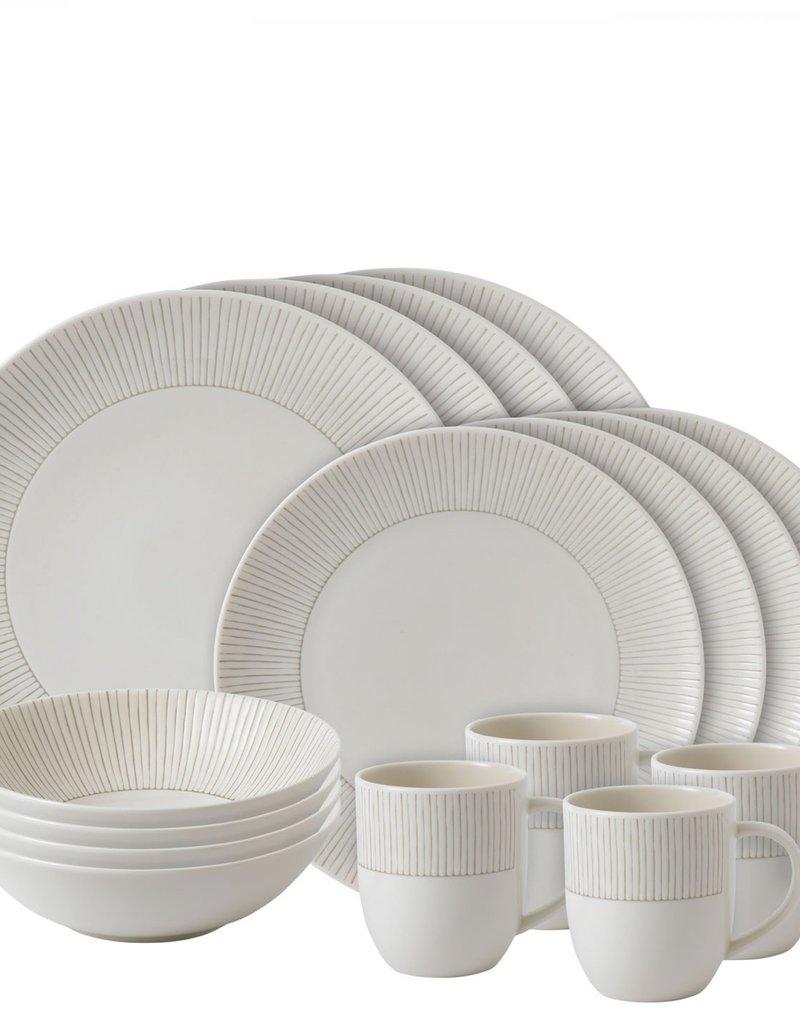 Royal Doulton Taupe Stripe Dish Set