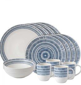 Royal Doulton Cobalt Blue Chevron Dish Set