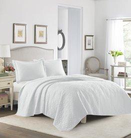 New New Horizons Paris White Quilt Set - King