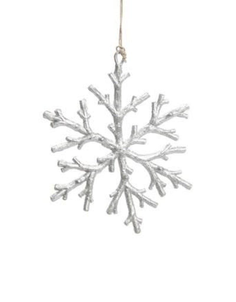 ADV Silver Snowflake Ornament