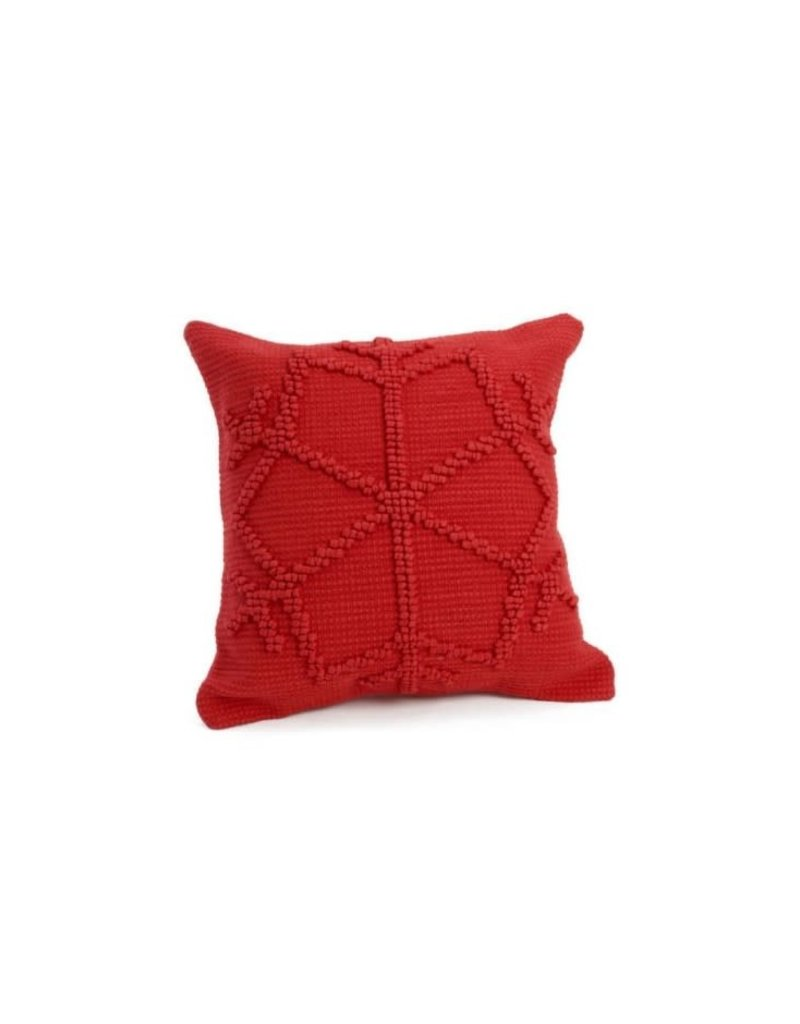 ADV Toss Pillow - Red Snowflake 17x17