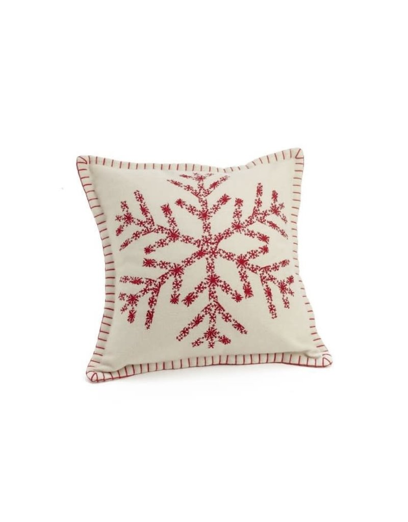 ADV Toss Pillow - Embroidered Snowflake 17x17