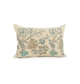ADV Toss Pillow - Flax Embroidered 14x20