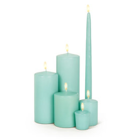 Abbott Aqua Pillar Candle