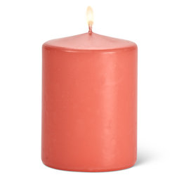 Abbott Coral Pillar Candle
