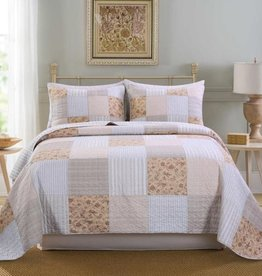 New New Horizons Cindy Quilt/Shams, Queen