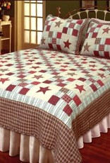 New New Horizons Country Red Quilt/Shams, Queen