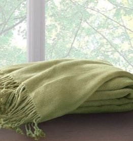 New New Horizons Throw, Apple Green, Bamboo