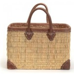 Bacon Basketware English Straw Market Bag