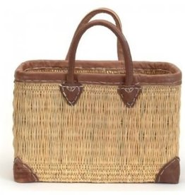 Bacon Basketware English Straw Market Bag