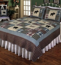 New New Horizons Forest Moose Quilt/Shams, King