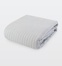 New New Horizons Grey Channel Quilt/Shams, King