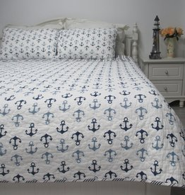 New New Horizons Navy Anchors Quilt Set
