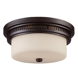 Elk Lighting Chadwick 2-Light Flush Mount - Oiled Bronze