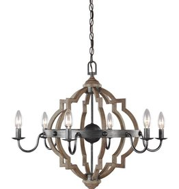 Seagull Lighting Sea Gull Socorro 6-Light Chandelier - Stardust