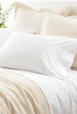 Pine Cone Hill Classic Hemstitch White Sheet Set