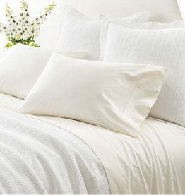 Pine Cone Hill Classic Hemstitch Ivory Sheet Set
