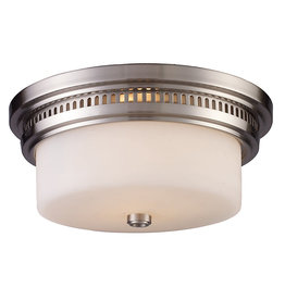 Elk Lighting Chadwick 2-Light Flush Mount - Satin Nickel