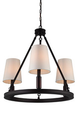 Feiss Lismore 3-Light Chandelier - Oil Rubbed Bronze
