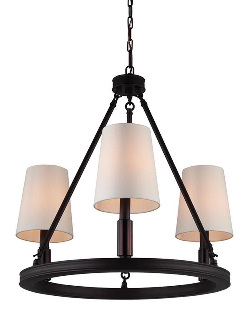 Feiss Lismore 3-Light Chandelier - Oil Rubbed Bronze
