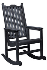 CR Plastics Porch Rocker - Black