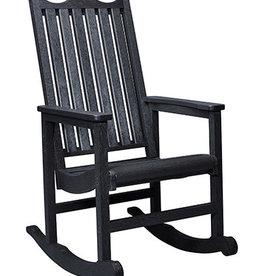 C.R. Plastic Products Porch Rocker - Black