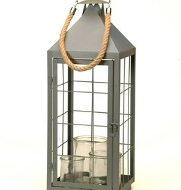 Bacon Basketware Antique Grey Lantern