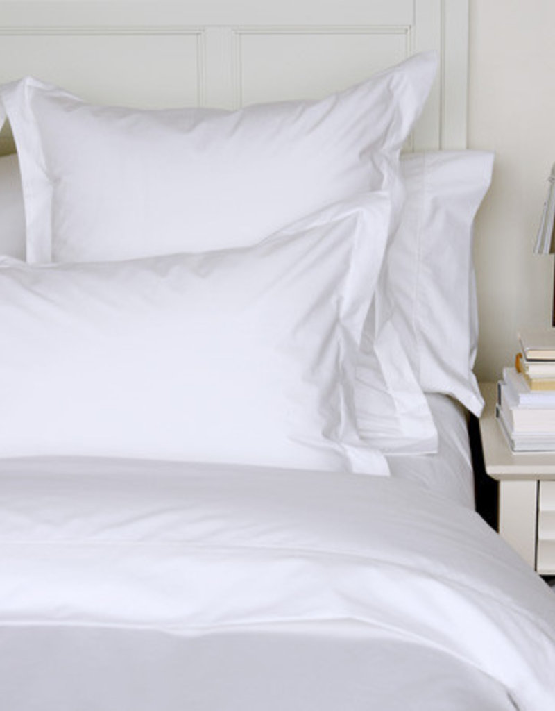 Cuddle Down White Percale Duvet Cover - Double