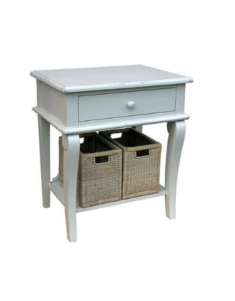 Trade Winds Scroll Side Table - White