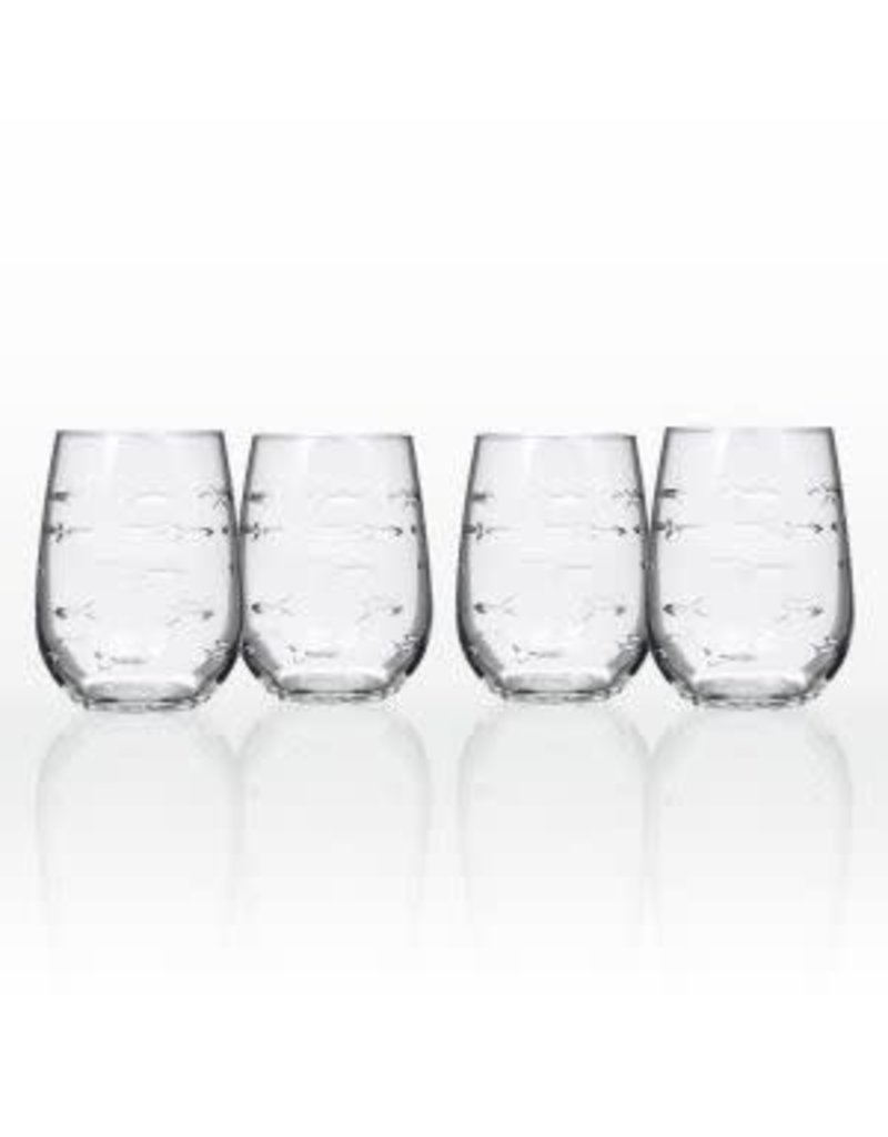 Rolf Glassware School of Fish - Stemless Wine Glass 17oz
