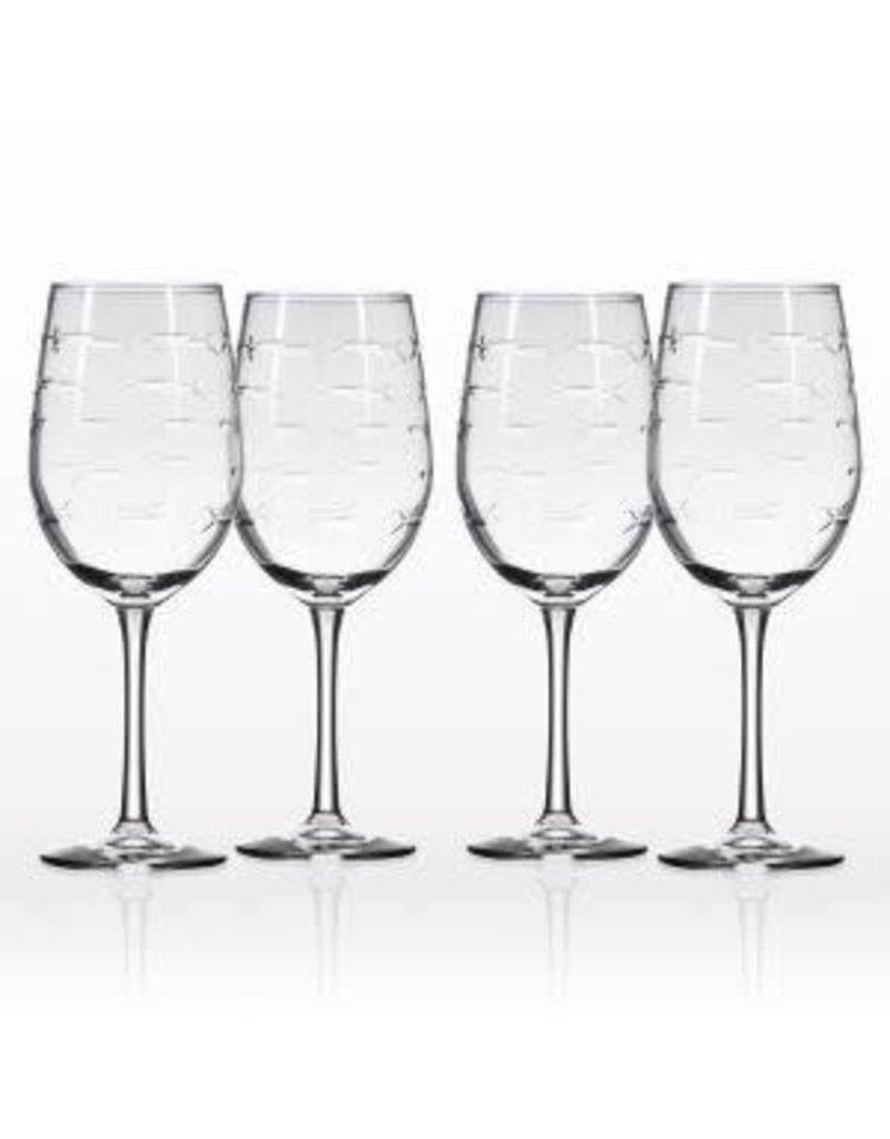 Rolf Glassware School of Fish - White Wine Glass 12 oz