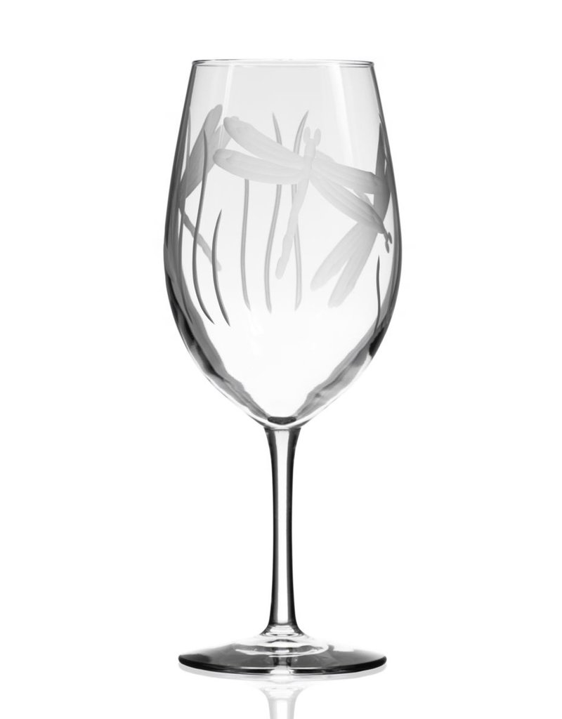 Rolf Glassware dragon fly - Wine Glass (18 oz)