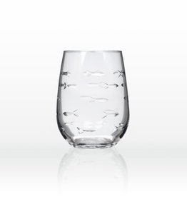 Rolf Glassware School of Fish - Wine Tumbler (15 oz)