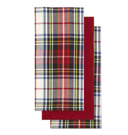 Harman Scottish Plaid Dishtowel S/3