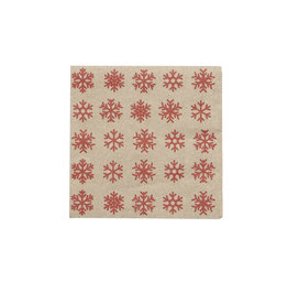 Harman Snowflake Kraft Cocktail Serviette